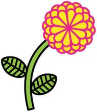 Hippie Weekend Flower Pink Yellow