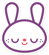 Kawaii Animals Bunny Head