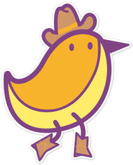 Kawaii Animals Cowboy Bird