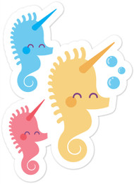 Kawaii Animals Seahorses