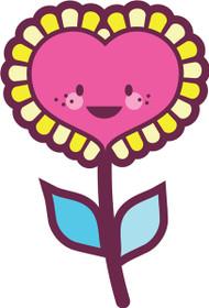 Kawaii Nature Heart Flower