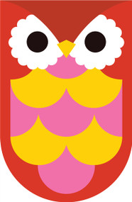Owls Red Pink Yellow