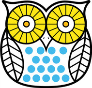 Owls White Black Yellow