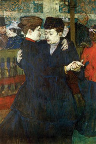 Dancing a Valse by Toulouse Lautrec