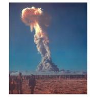 U.S. Soldiers Observe Mushroom Cloud - Nevada Test Site - 1950s