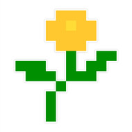 8-Bit Wall Flower (Yellow)