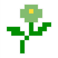 8-Bit Wall Flower (Green)