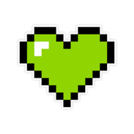 Wall Heart Green