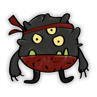 Doodle Jump Ninja: Three Eyed Monster