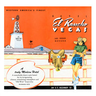 Hotel El Rancho Vegas Menu - 1943