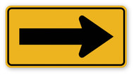 Right Arrow Sign Wall Graphic