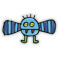 Blue Flying Monster (Striped Wings)