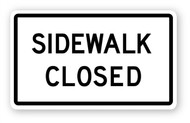 Sidewalk Closed Sign Wall Graphic