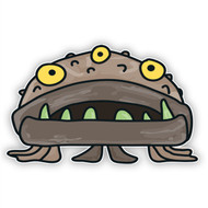 Doodle Jump Brown Sea Monster (Three Eyes)