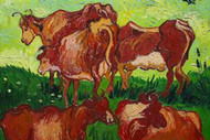 Les Vaches by Vincent Van Gogh