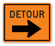 Detour Sign Wall Graphic