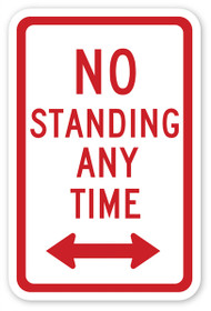 No Standing At Any Time Wall Graphic