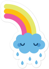 Kawaii Nature Rainbow Crying Cloud