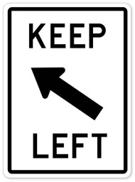 Keep Left Wall Graphic