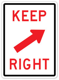 Keep Right Red Wall Graphic