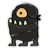 Doodle Jump Ninja: One Eyed Monster (Three Legs)