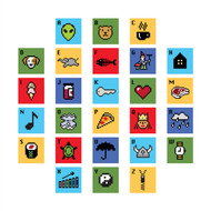 ABC 8-Bit Alphabet Wall Graphics (Set of Twenty Six Letters)