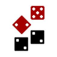 8-Bit Dice (Set of Four 12 in x 12 in)