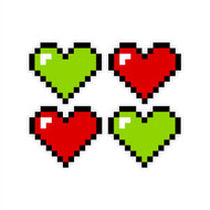 Wall Hearts (Set of Four 12 in x 12 in)