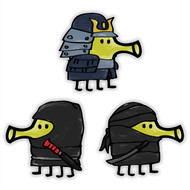 Doodle Jump Special Ninjas Set of 3 Wall Graphics (12 inch)