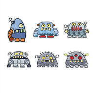 Doodle Jump Robot Monsters Special Set of 6 Wall Graphics (12 inch)