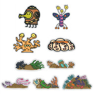 Doodle Jump Life Aquatic Super Set of 9 Wall Graphics (12 inch)