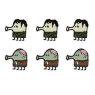 Doodle Jump Zombie Invasion Special Set of 6 Wall Graphics (12 inch)