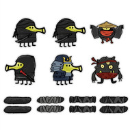 Doodle Jump Ninjas Mini Wall Graphics Set of 14 Wall Graphics (6 inch)