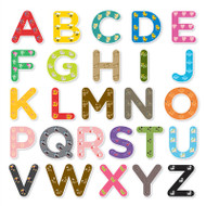 PaddleDuck Learning Special Alphabet Set (Uppercase Colors)