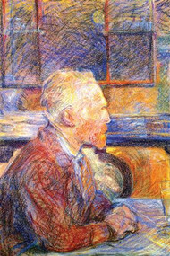 Portrait of Van Gogh by Toulouse Lautrec