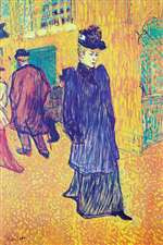 Jane Avril Leaves the Moulin Rouge by Toulouse-Lautrec