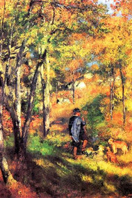 Jules Le Coeur And His Dogs by Renoir