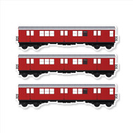 "All City Style Redbird: Set of Three 12"" x 3.25"" Premium Blank Classic Train Wall Graphics"