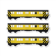 "All City Style Work Train: Set of Three 12"" x 3.25"" Premium Blank Classic Train Wall Graphics"