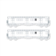 "All City Style Template: Set of Two 24"" x 6.5"" Premium Blank Classic Train Wall Graphics"