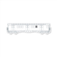 All City Style Premium Blank Classic Train Wall Graphics: Template