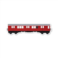 All City Style Premium Blank Classic Train Wall Graphics: Redbird