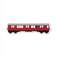 All City Style Premium Blank Classic Train Wall Graphics: Redbird