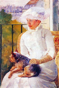 Lady With Dog by Mary Cassatt