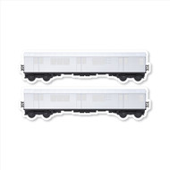 "All City Style White Elephant: Set of Two 24"" x 6.5"" Premium Blank Classic Train Wall Graphics"