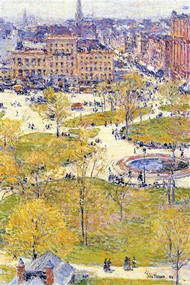 Union Square in Spring by Hassam