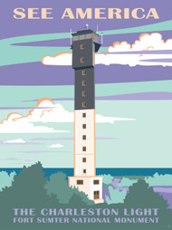 Charleston Light, Fort Sumter National Monument by Amelia M