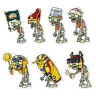 Plants vs. Zombies 2 Wall Decals: Special Ancient Egypt Zombie Set 1 (Seven 4-6 inch Wall Decals)