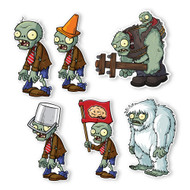 Plants vs. Zombies 2 Wall Decals: Special Front Yard Zombie Set II (Six Zombies 6 inches longest side)