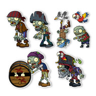 Plants vs. Zombies 2 Wall Decals: Special Pirate Seas Zombies Set I (Seven 2.5 to 7 inches longest side)